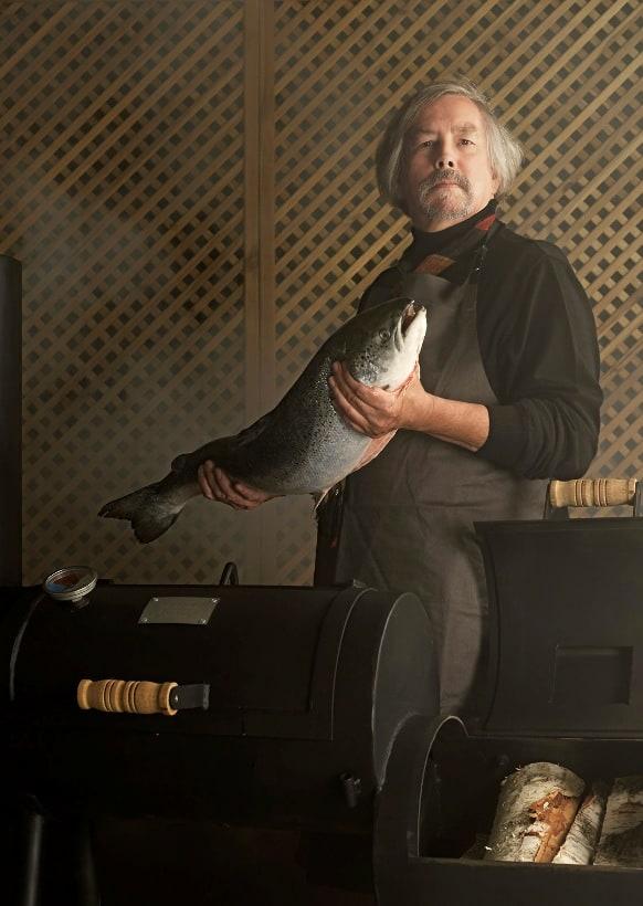 Hubert Haenen met vis