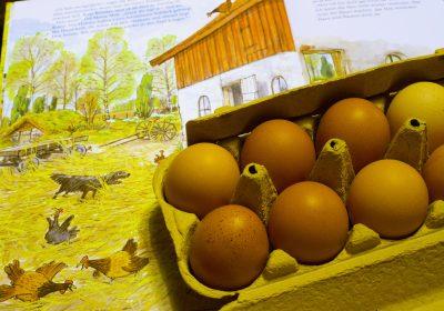 Ik kocht tien eieren van vrolijke kippen op de markt en groenten met een portie van Ons Dagelijks Gif